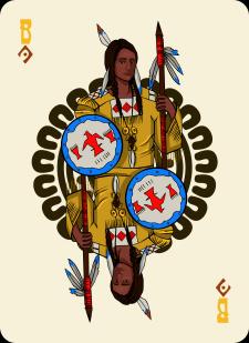 Spielkarten Indians- Farbig5