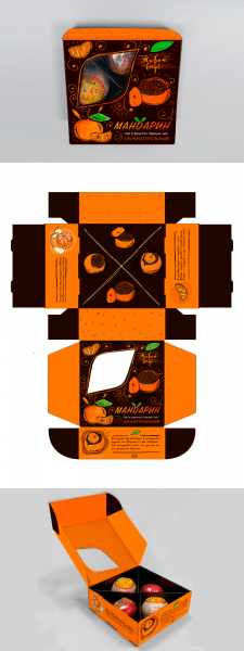 Разработка дизайна для упаковки чая