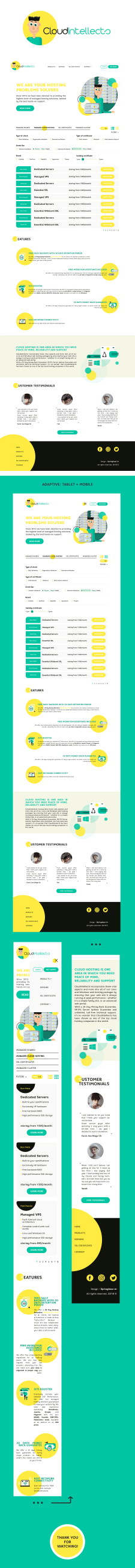 CloudIntellects - Логотип и лендинг
