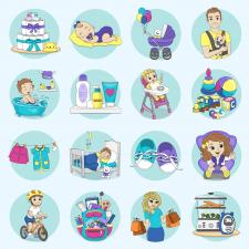 Иллюстрации для сайта детского магазина