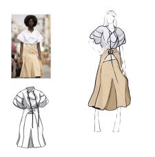 Технічний дизайн сукні