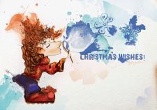"""""""Будь дивом"""", из серии открыток к новому году"""