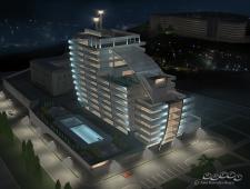гостиница ночной вид