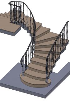 лестница кованная