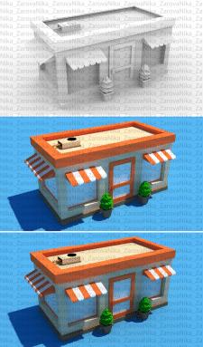 Low poly магазин