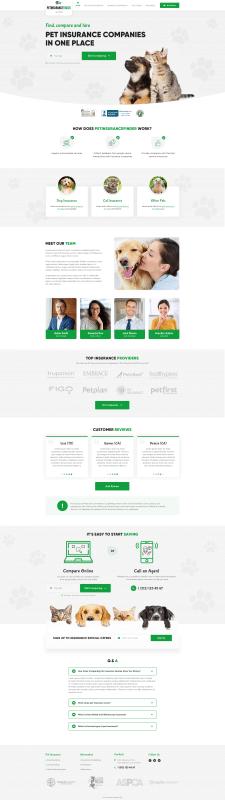 Дизайн сайта PetInsuranceFinder