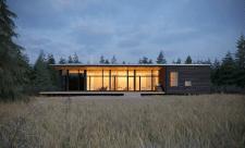Архитектурная визуализация дома в Канаде.