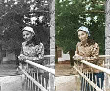 Раскраска черно-белого фото
