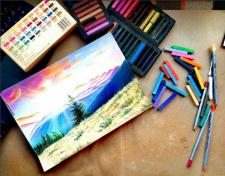 Рисовка пастелью
