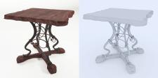 Кованый стол / модель + сетка