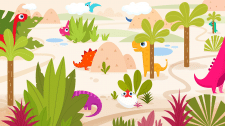 The illustration for a children game