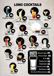 коктейльная карта манхеттен
