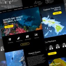 Дизайн сайта Hawaii Divers