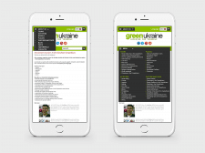 Design of the site for mobile devices