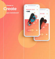 IOS application for buying and creating skates