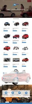 landing page з продажу Дитячіх електрокарів