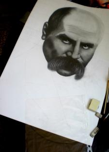 Портрет Т.Г.Шевченка (процесс)