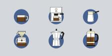 Иконки для компании Raketa Coffee