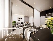 Визуализация  гостиной-студии