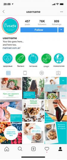 Обложки и дизайн для страницы Instagram