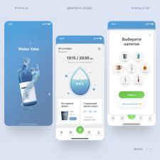 Концепт мобильного приложения трекера воды