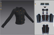 denim jacket (marvelous designer)