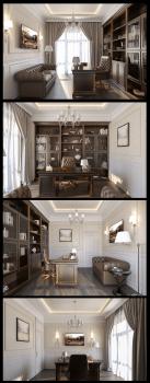 дизайн кабінету в традиційному стилі