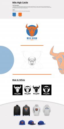 Mile High Cattle Logo Design
