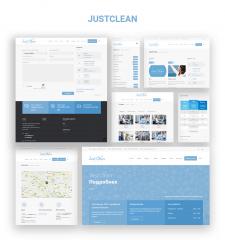 """Corporate Website """"JustClean"""""""