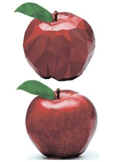 Яблоко (Триангуляция) вектор