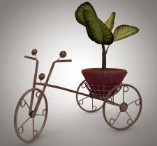 Оригинальная подставка под вазон в виде велосипеда