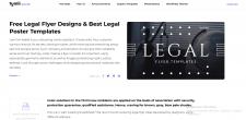 Legal Flyer Designs. Legal Poster Templates
