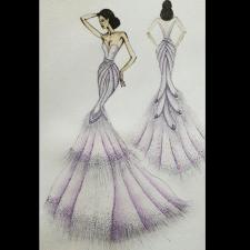 Иллюстрация вечернего платья