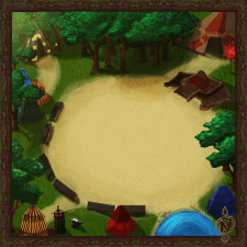 "Redrawn background for ""Lantern of worlds"""