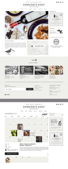 Дизайн сайта ресторана.