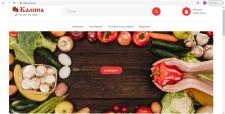 Разработка сайта продуктового магазина