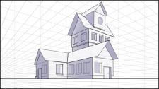 Эскиз дома в растре