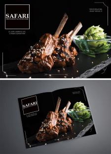 Разворот в журнал SAFARI restaurant & lounge bar