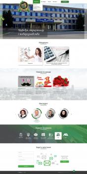 Дизайн сайта визитки для кафедры университета