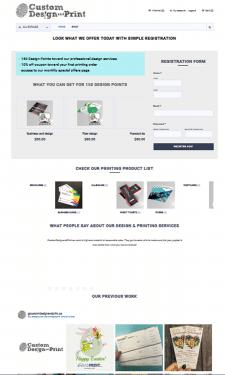 Сайт услуг полиграфии