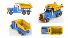 Модель детали кузова для грузовика