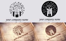 логотип фирмы подарков из дерева лазерной резкой