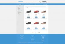 Дизайн интернет магазина в стиле минимализма