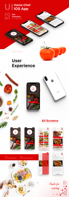 Home Chef IOS App UI Design