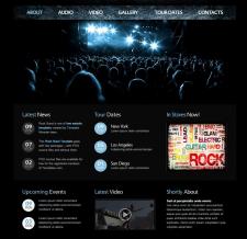 Сайт музыкальной рок группы