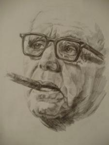Работа Карандашом _ Мужчина с сигарой