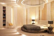 Дизайн спальной комнаты, коттедж.