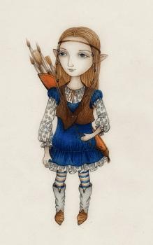 Серия эскизов текстильных куколок (Художница)