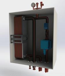 3D модель теплообменника