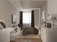 Двухкомнатная квартира 80 м2. Спальня